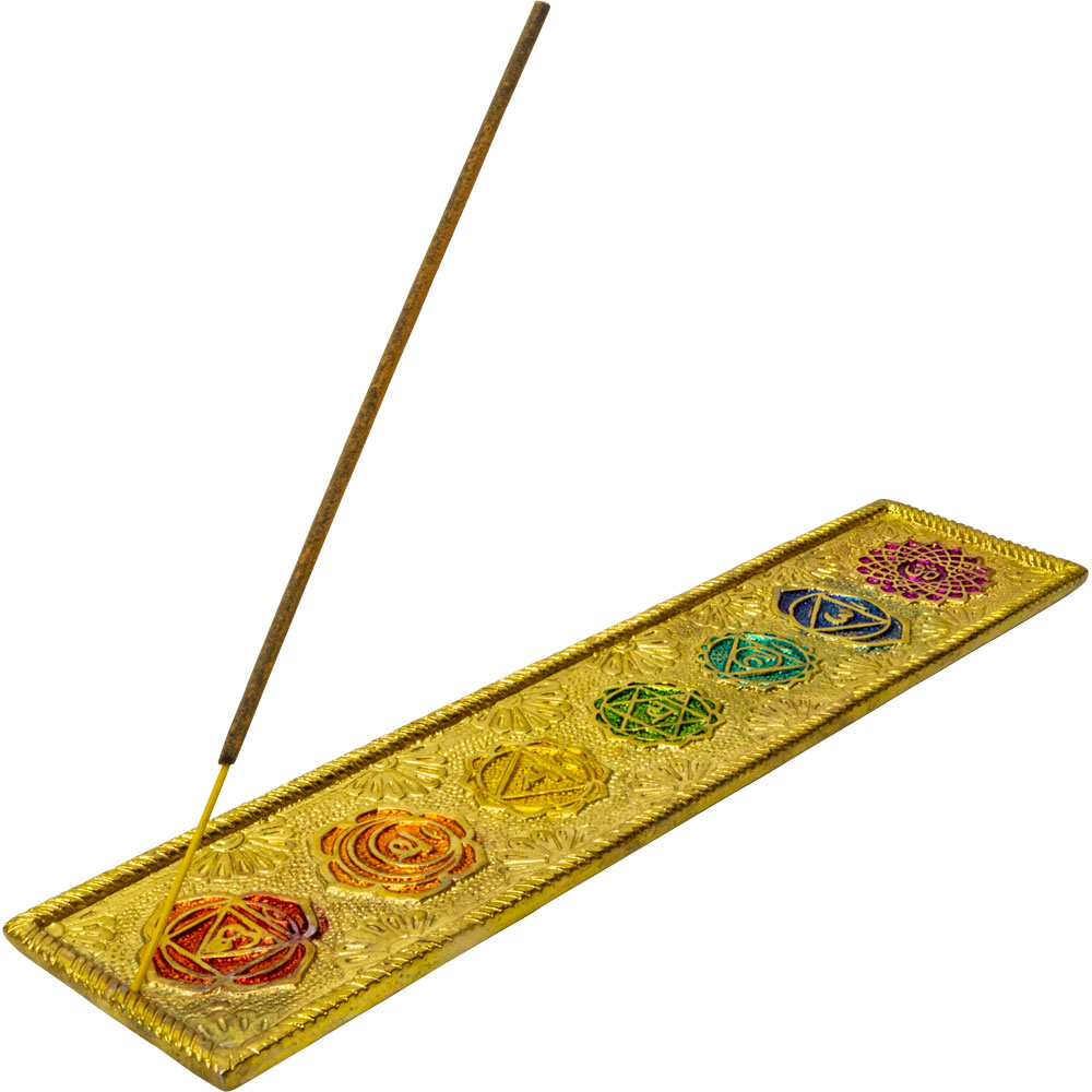 7 Chakras Gold Incense Holder