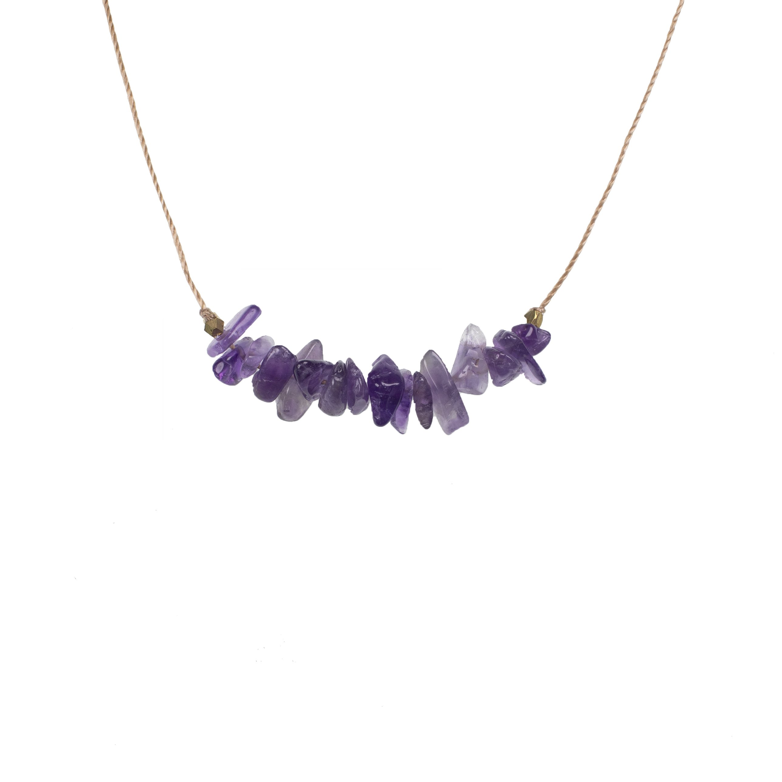 Amethyst Seed Necklace for Healing
