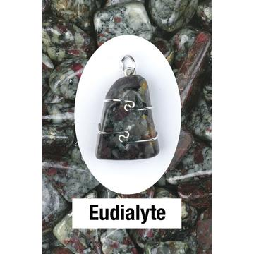 Eudialyte Wire Wrap Pendant